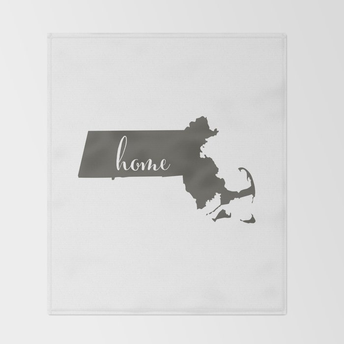 Massachusetts is Home Throw Blanket