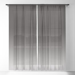 Monochromatic Background, Faded Black to Grey Sheer Curtain