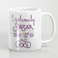 dumbledore Mugs featuring I am up to no good by Earthlightened