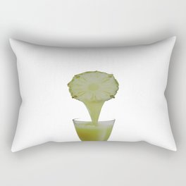 Just cool *2ananas    juice nectar Great taste Refreshing drink Very natural colorful retro Rectangular Pillow