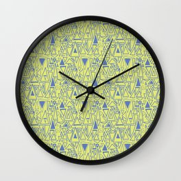 Chaotic Angles in Green by Deirdre J Designs Wall Clock