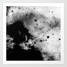 War - Abstract Black And White Art Print
