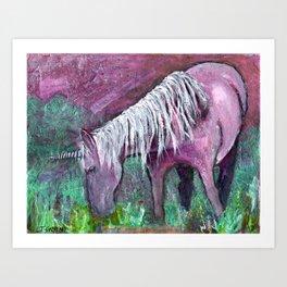 Unicorn Warrior at Rest Art Print