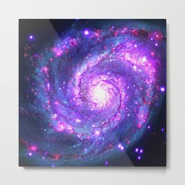 Ultra Violet Galaxy Metal Print