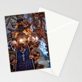 Sedlec Ossuary Candle Photo Art, Skull Bone Church Stationery Cards
