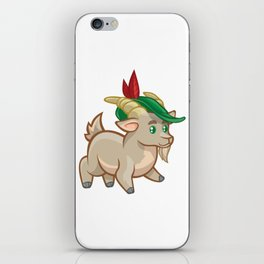 Cartoon Walking Ram with Hat iPhone Skin