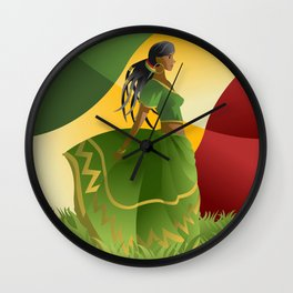 african rastafarian girl Wall Clock