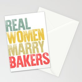 Funny Marriage Shirt Real Women Marry Bakers Bride Gift Stationery Cards