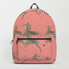 Royal Tenenbaums Zebra Wallpaper - Pink Backpack