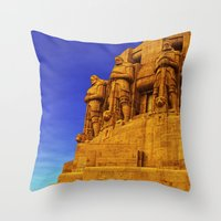 guardians Throw Pillows featuring Guardians by itsme23