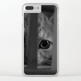 Who Lurks Under The Table? Clear iPhone Case