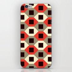 Hexagon pattern (red) iPhone & iPod Skin