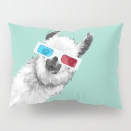 Sneaky Llama with 3D Glasses #01 Pillow Sham