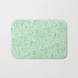 green montage Bath Mat