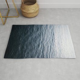 The Great Abyss | Minimalist Landscape Photography | Classic Blue Pantone Colour of the Year Rug