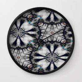 Collaged Pattern 2 Wall Clock