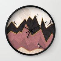 velvet underground Wall Clocks featuring Velvet by Kakel
