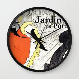 Jane Avril French can-can Jardin de Paris Wall Clock