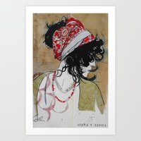 gypsy Art Prints featuring gypsy by LouiJoverArt