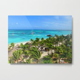 Aruba One Happy Island Metal Print