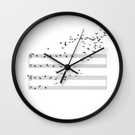 Natural Musical Notes Wall Clock