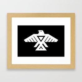 Thunderbird flag - Inverse edition version Framed Art Print