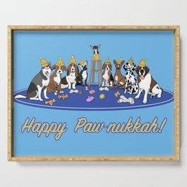 Happy Paw-nukkah! - Happy Hanukkah Serving Tray
