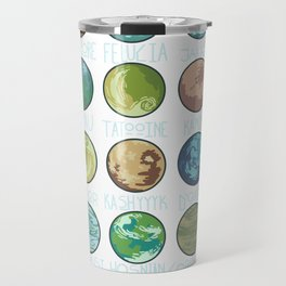 Planets Pattern Travel Mug