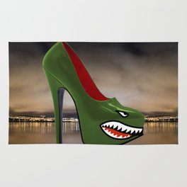 High Heel Air Force Nose Art Rug