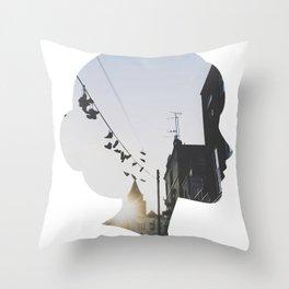 camden town sunset Throw Pillow