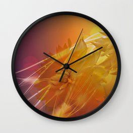 Sun Kissed Dahlia Wall Clock