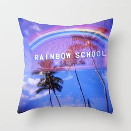Rainbow School Throw Pillow