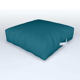 Best Seller Sherwin Williams Trending Colors of 2019 Oceanside (Dark Aqua Blue) SW 6496 Solid Color Outdoor Floor Cushion