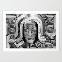 art deco Art Prints featuring Deco by Mouseizm