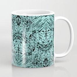 Turquoise Tribal Ethnic Repeat Mirrored Pattern Coffee Mug