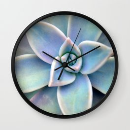 Pastel Succulent Wall Clock