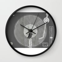 afro Wall Clocks featuring afro deck by Vin Zzep