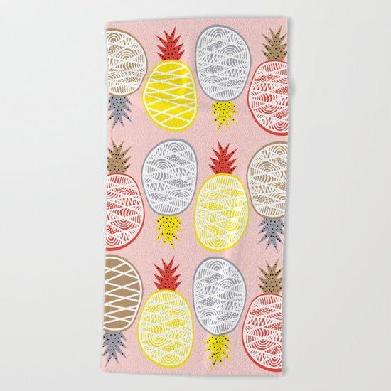 Pineapple I Beach Towel