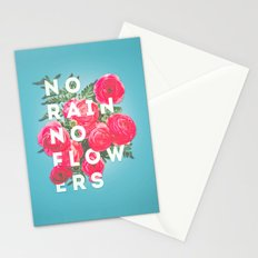 No Rain No Flowers - matte version Stationery Cards