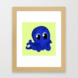 Octobaby Yellow Framed Art Print
