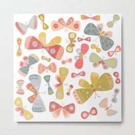 Butterfly Tango Light Metal Print