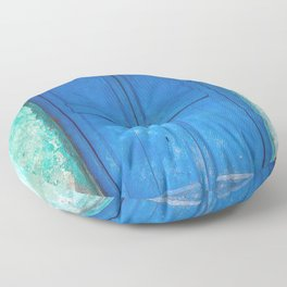 Blue Indian Door Floor Pillow