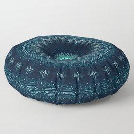 Pattern Abstrait Tropical Kaléidoscope Floor Pillow