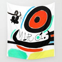Joan Miro, Joan Miró i Catalunya, 1968 Artwork for Wall Art, Prints, Posters, Tshirts, Men, Women, Youth Wall Tapestry