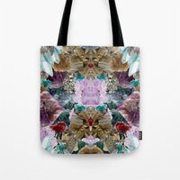crystal Tote Bags featuring Crystal by Joanna Tadger