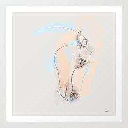 OnelineHorse 60615 Art Print