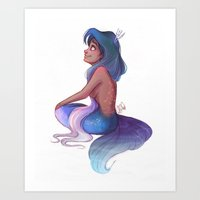 capricorn Art Prints featuring Capricorn by Laia™