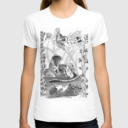 Mouse in the hause illustration T-shirt