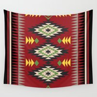 navajo Wall Tapestries featuring Navajo Pattern 3 by Gary Grayson