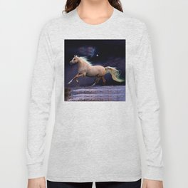horse galloping Long Sleeve T-shirt
